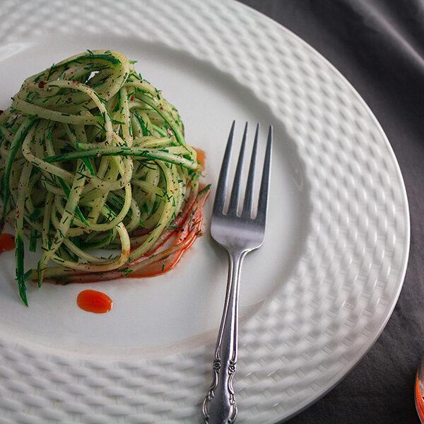 Cucumber salad, kakroko achar