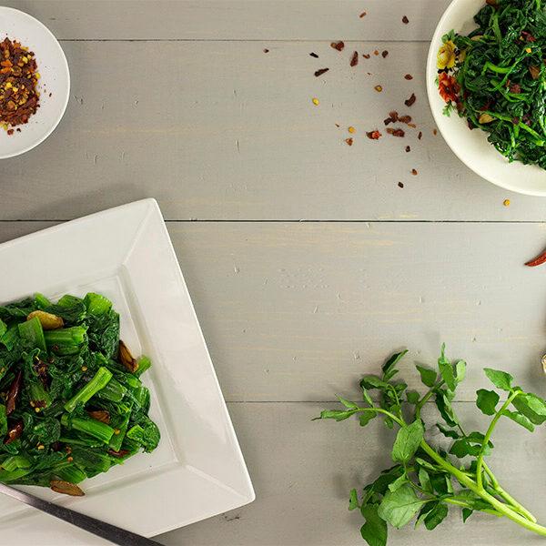 Bhuteko saag, sauted leafy greens