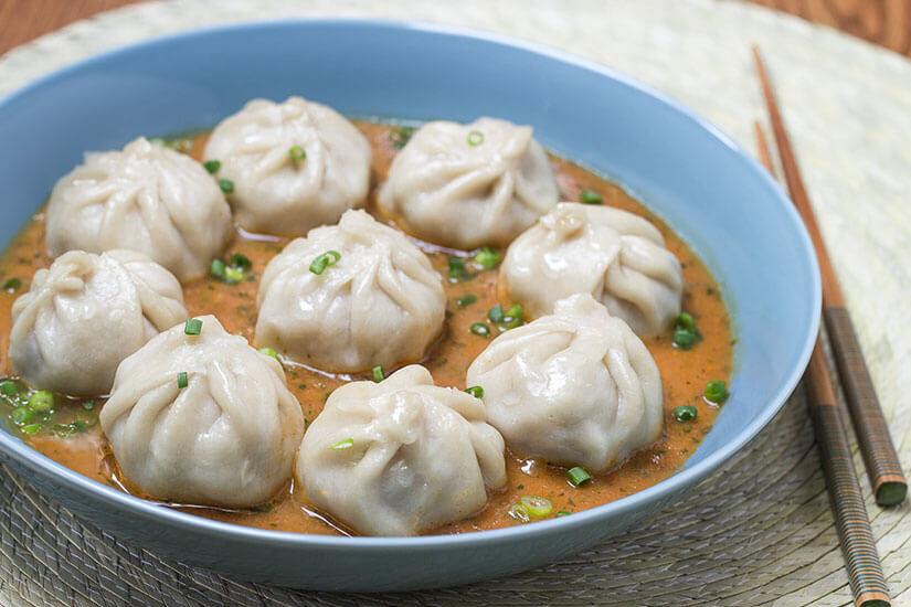 Pork momo, Nepalese style pork dumplings