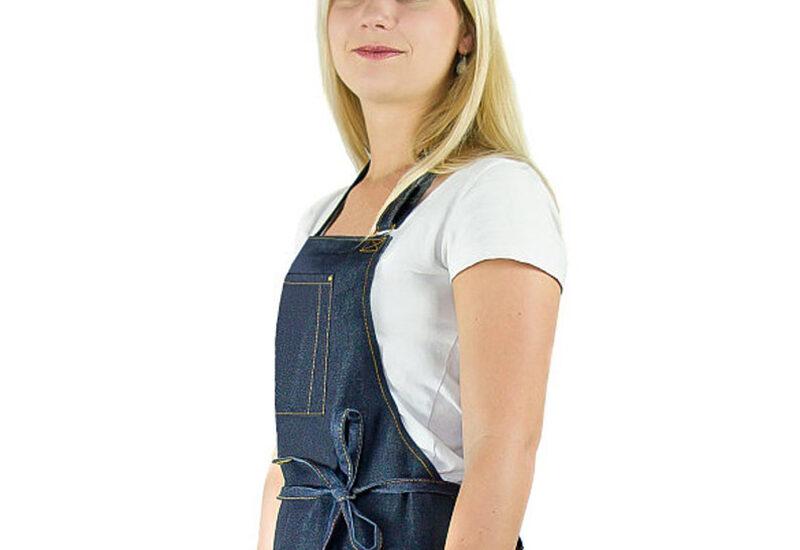 women's denim apron-kitchen-BBQ-outdoor-adjustable-high quality-designed in USA