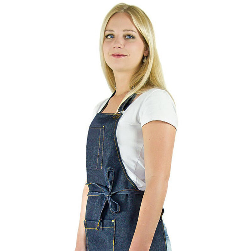 women's denim apron-kitchen-BBQ-outdoor-adjustable-high quality-designed in USA